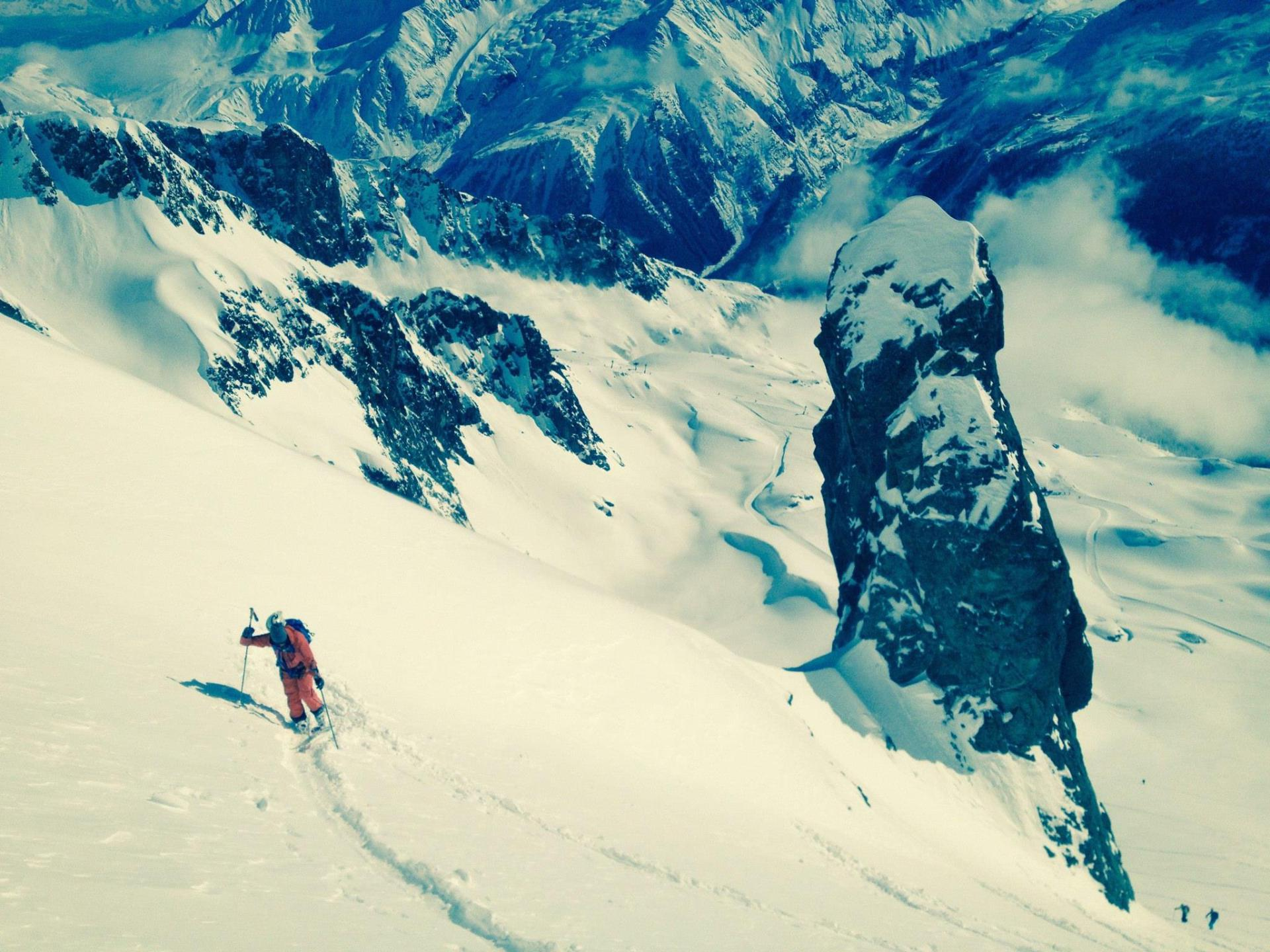 Ski touring in Chamonix Brevent is amazing