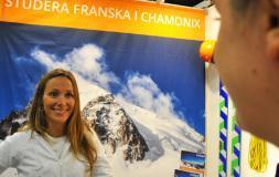 Hanna från Insted på Saco mässan i Malmö
