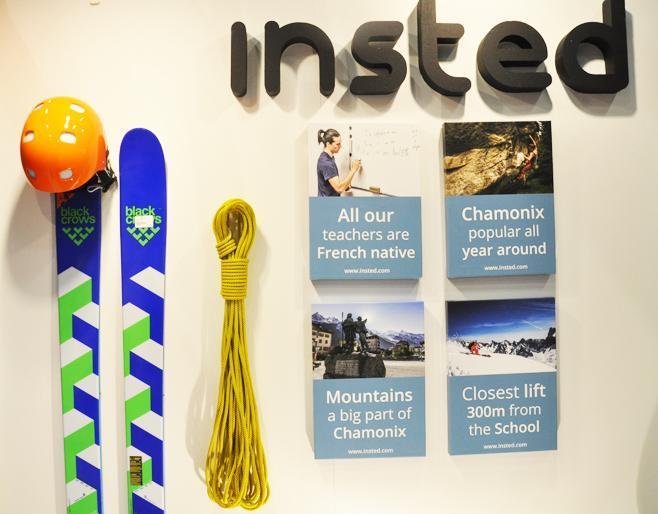 Insteds monter är clean med ett starkt band till bergen på sacomässan i Stockholm