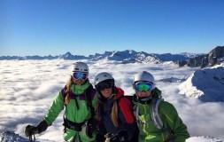 Insted students ski in chamonix
