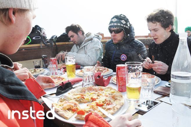 Insteds lunch break in Courmayeur