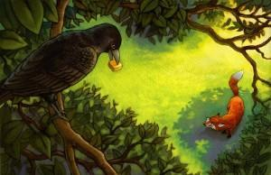 the_fox_and_the_crow_by_camartin-300x194