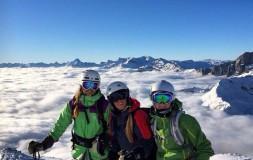 Insted students ski in chamonix
